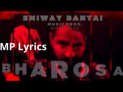 Bharosa Lyrics Emiway Bantai