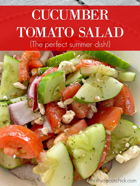 Fresh and delicious summer salad {from your garden!} from Thrifty Decor Chick