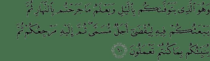 Surat Al-An'am Ayat 60