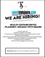 We Are Hiring at TS Suites Heeel Surabaya Juli 2020