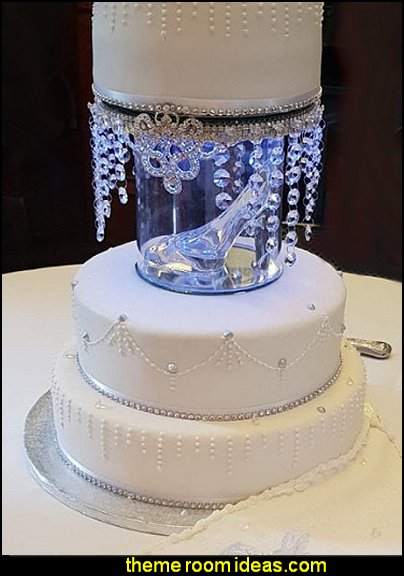 Glass slipper Cinderella inspired wedding cake separator ,cake divider