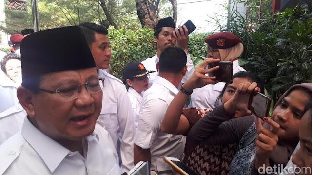 Prabowo: Kalau Tak Masuk Kabinet, Kami Loyal Sebagai Penyeimbang