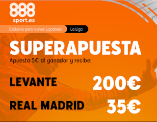 888sport superapuesta liga Levante vs Real Madrid 22 febrero 2020