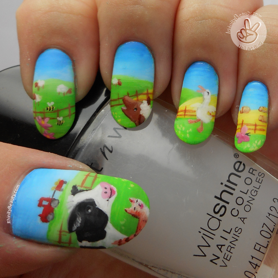 The noisy noisy farm freehand nail art inspired by a the noisy noisy farm freehand nail art inspired by a childrens book prinsesfo Choice Image