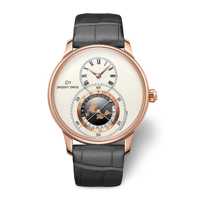 Jaquet Droz Grande Seconde Dual Time in red gold ref J016033201