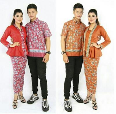Kebaya couple batik pasangan anak muda