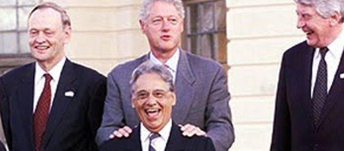 Resultado de imagem para fhc e bill clinton