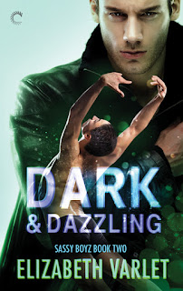 Dark & Dazzling, romance novel cover, M/M Romance,