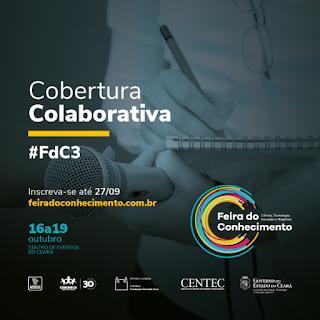 Abertas as inscrições para cobertura colaborativa da Feira do Conhecimento 2019