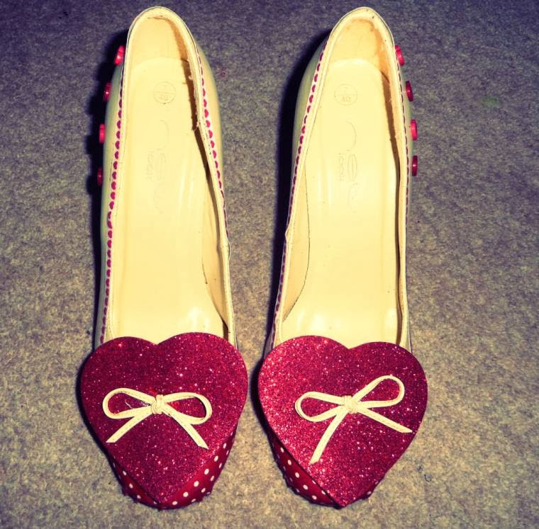 Up-Cycled Valentine Shoes: How You Can Make Some Too