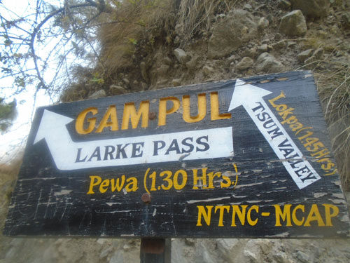 Manaslu trekking Nepal. Gampul is the junction between Manaslu and Tsum valley. It is coming after walking 1 hours from PHillim.