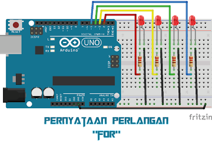 pernyataan perulangan for pada pemrograman arduino #5