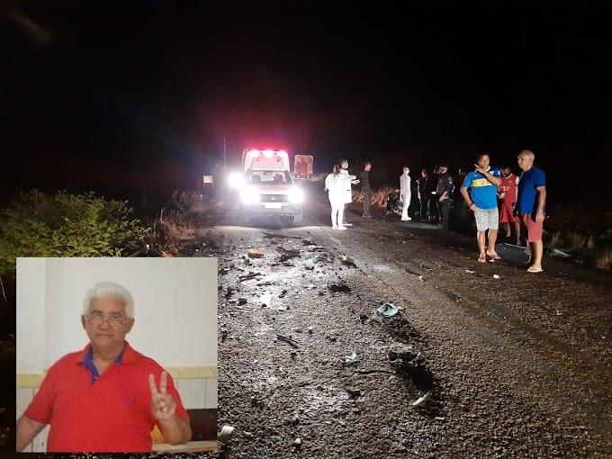 Acidente na RN 120 mata ex prefeito de Pedra Grande Valdemir Belchior e um motorista