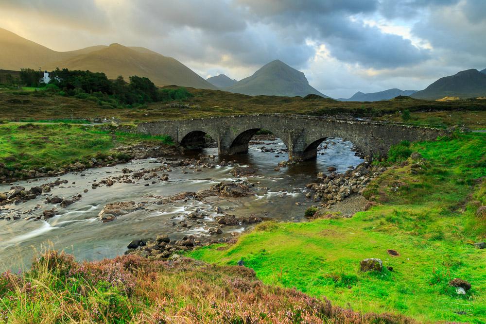 Слигачанский мост на острове Скай в Шотландии