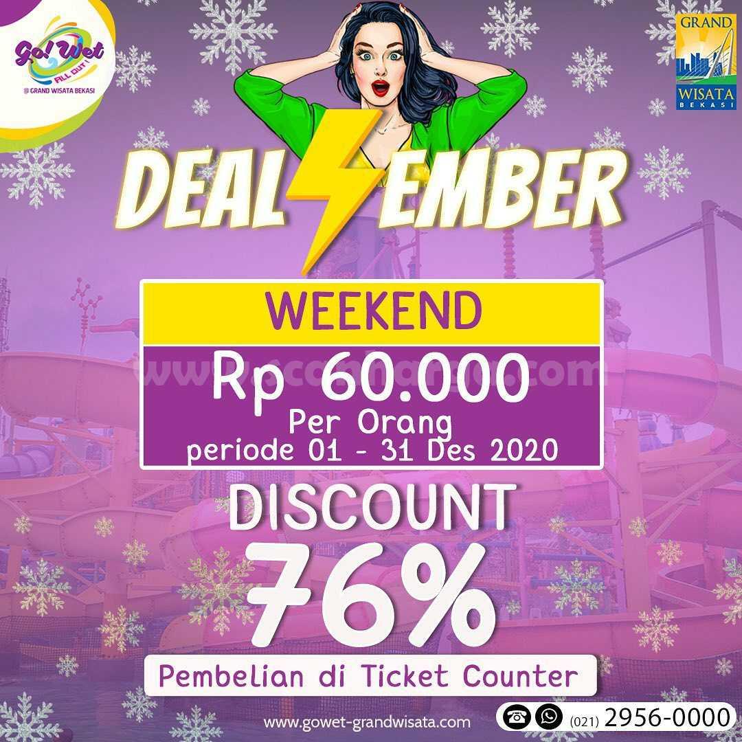 Go! WET Grand Wisata Bekasi Promo Harga Spesial Tiket Masuk cuma Rp 60Rb per orang