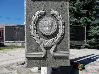 Пінськ. Вул. Леніна. Пам'ятник визволителям Пінська в 1944 р.