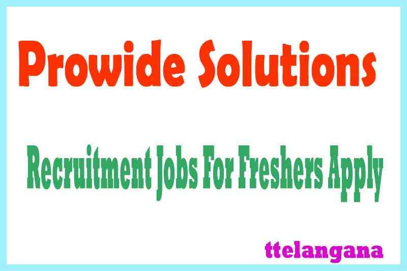 Prowide Solutions Recruitment Jobs For Freshers Apply