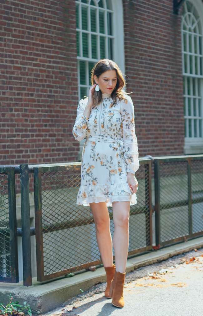 How to style a summer dress for the fall