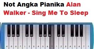 Not Angka Pianika Alan Walker Sing Me To Sleep Calonpintar Com