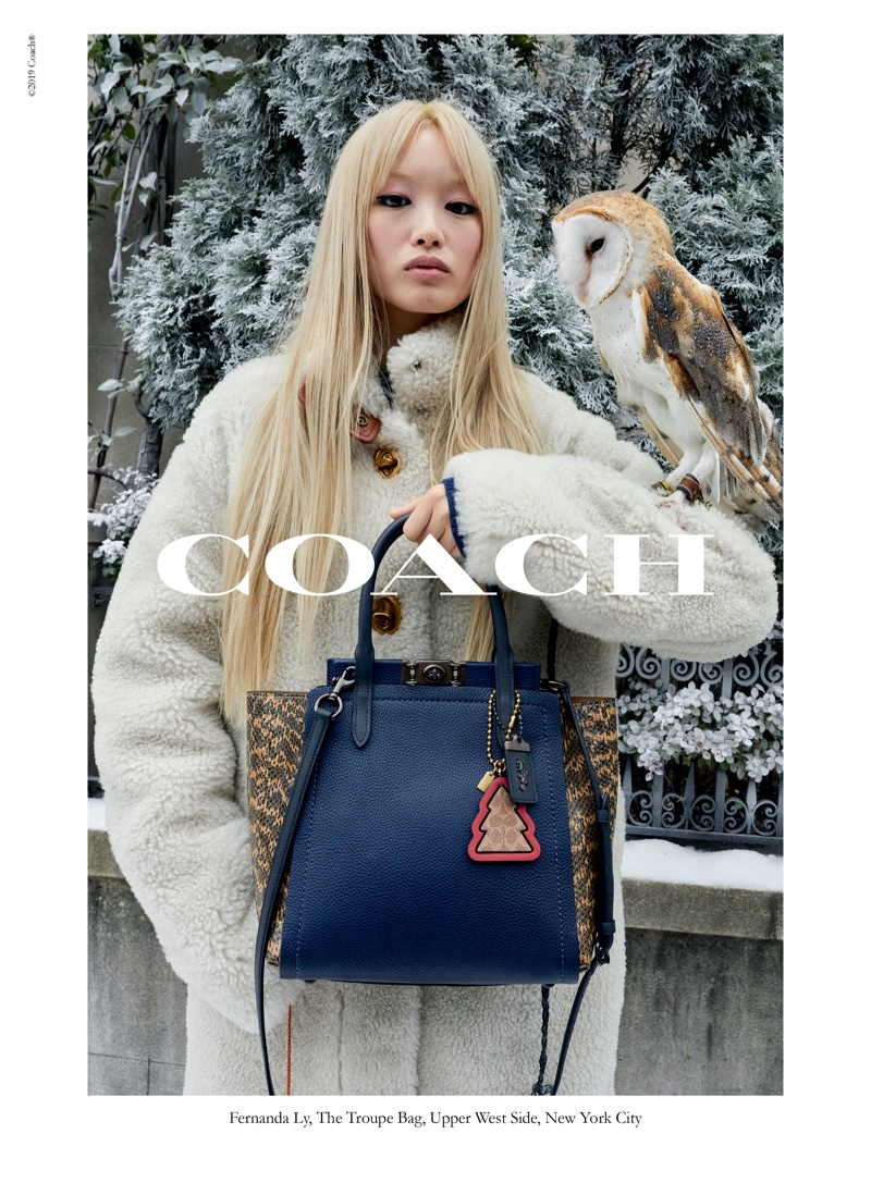 Fernanda Ly stars in Coach Wonder for All holiday 2019 campaign