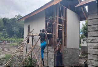 Bantuan Rumah Bpk. Agul Akan  Segera Di Rampungkan Satgas TMMD Kodim 1004/ Kotabaru