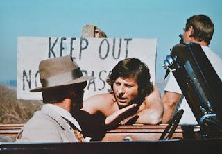 El director Roman Polanski junto a Jack Nicholson durante el rodaje de Chinatown
