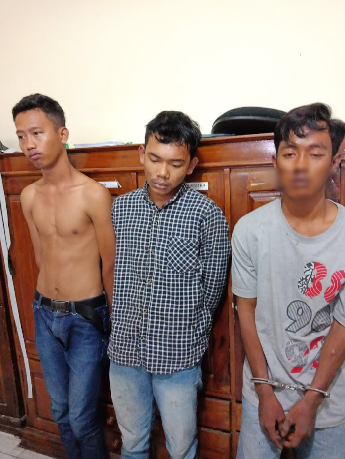 Tiga Remaja Pelaku Curas Ditangkap Reskrim Polres Lamsel