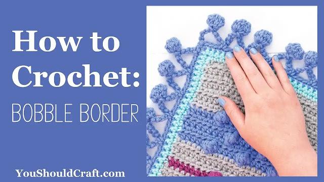 Cómo tejer una puntilla de burbuja a crochet