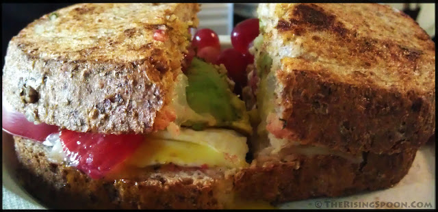 Healthy, Hodgepodge Grilled Cheese Sandwich   www.therisingspoon.com