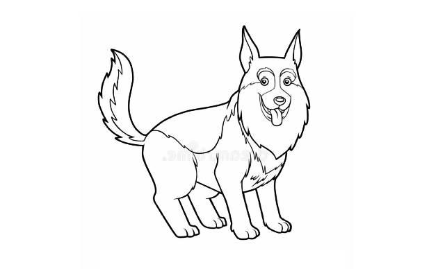 dibujos de perros pastor aleman a lapiz faciles
