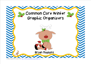 FREEBIE Winter Common Core Graphic Organizers