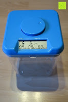 """Erfahrungsbericht: Kitchen Safe: Verschließbarer Behälter mit Zeitschaltuhr (Blue Lid + Clear Base) - 5.5"""" Height"""