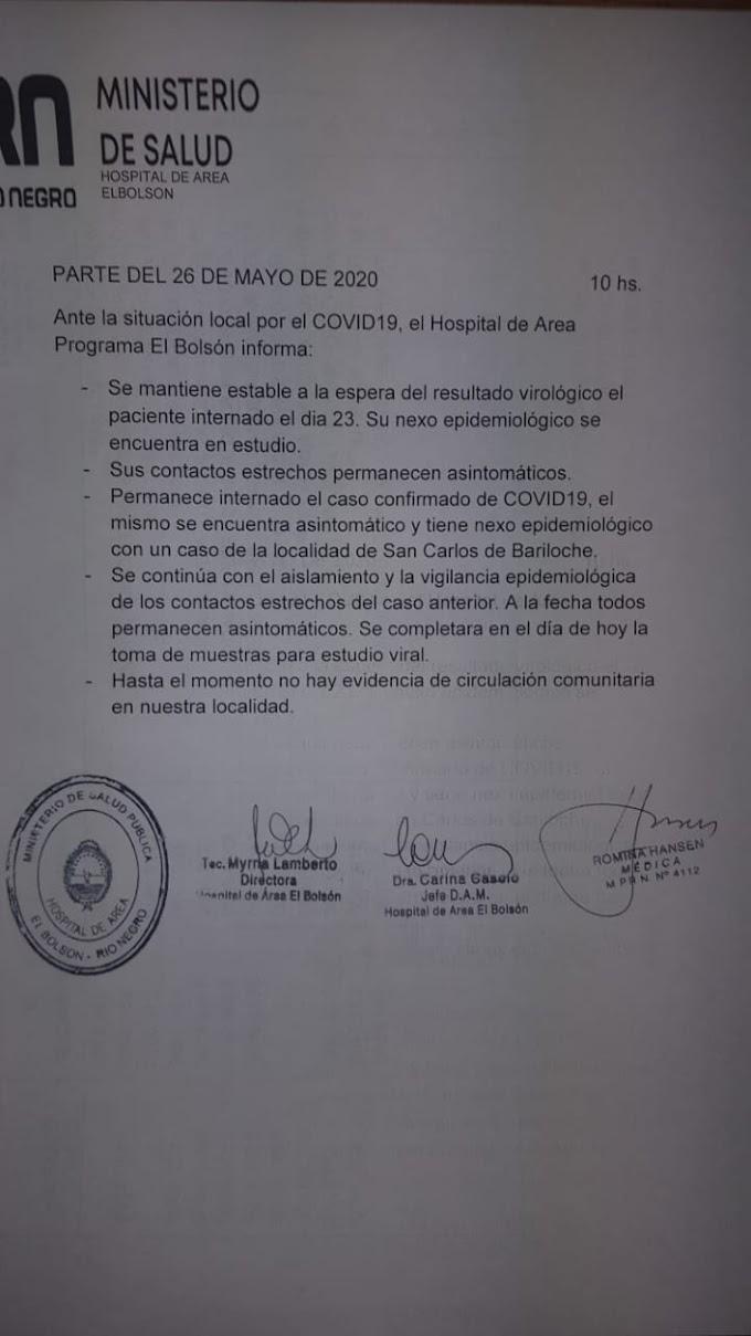 Parte diario Hospital Área El Bolsón.