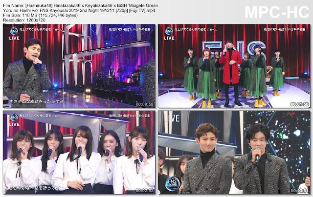 Hinatazaka46, Keyakizaka46, BiSH – FNS Kayousai 2019 2nd Night 191211 (Fuji TV)
