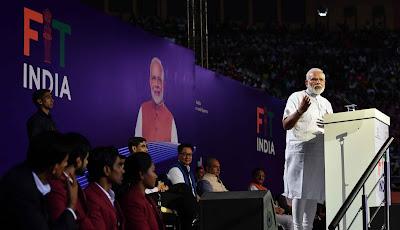 PM Narendra Modi launches the Fit India Movement Campaign