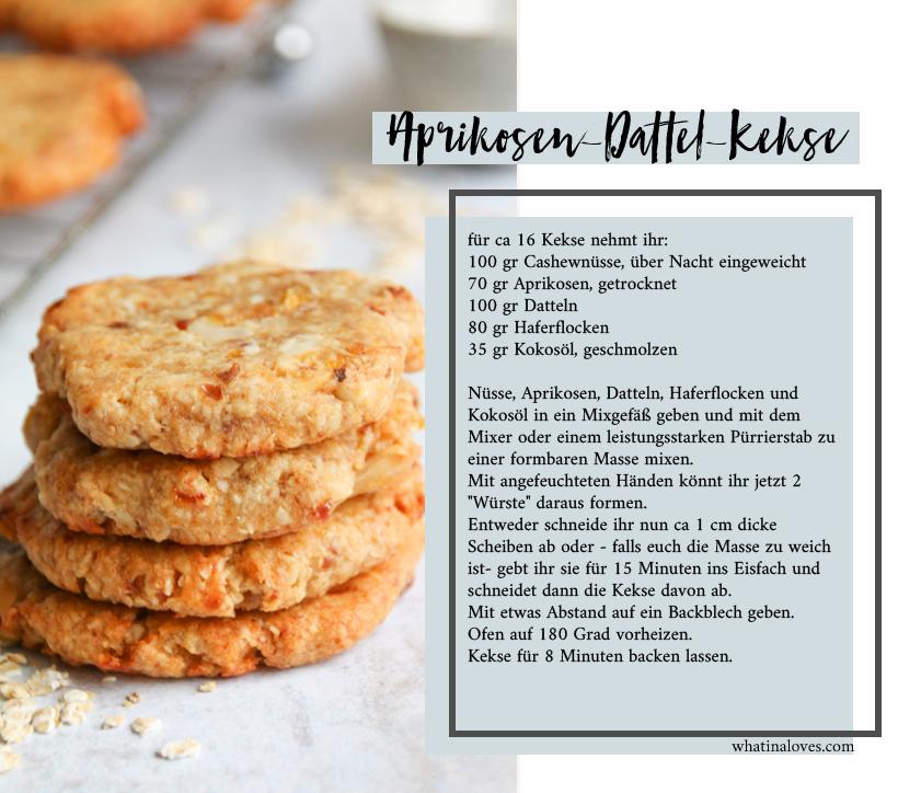 Aprikosen-Nuss-Kekse