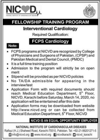 NICVD Fellowship Training Program 2020