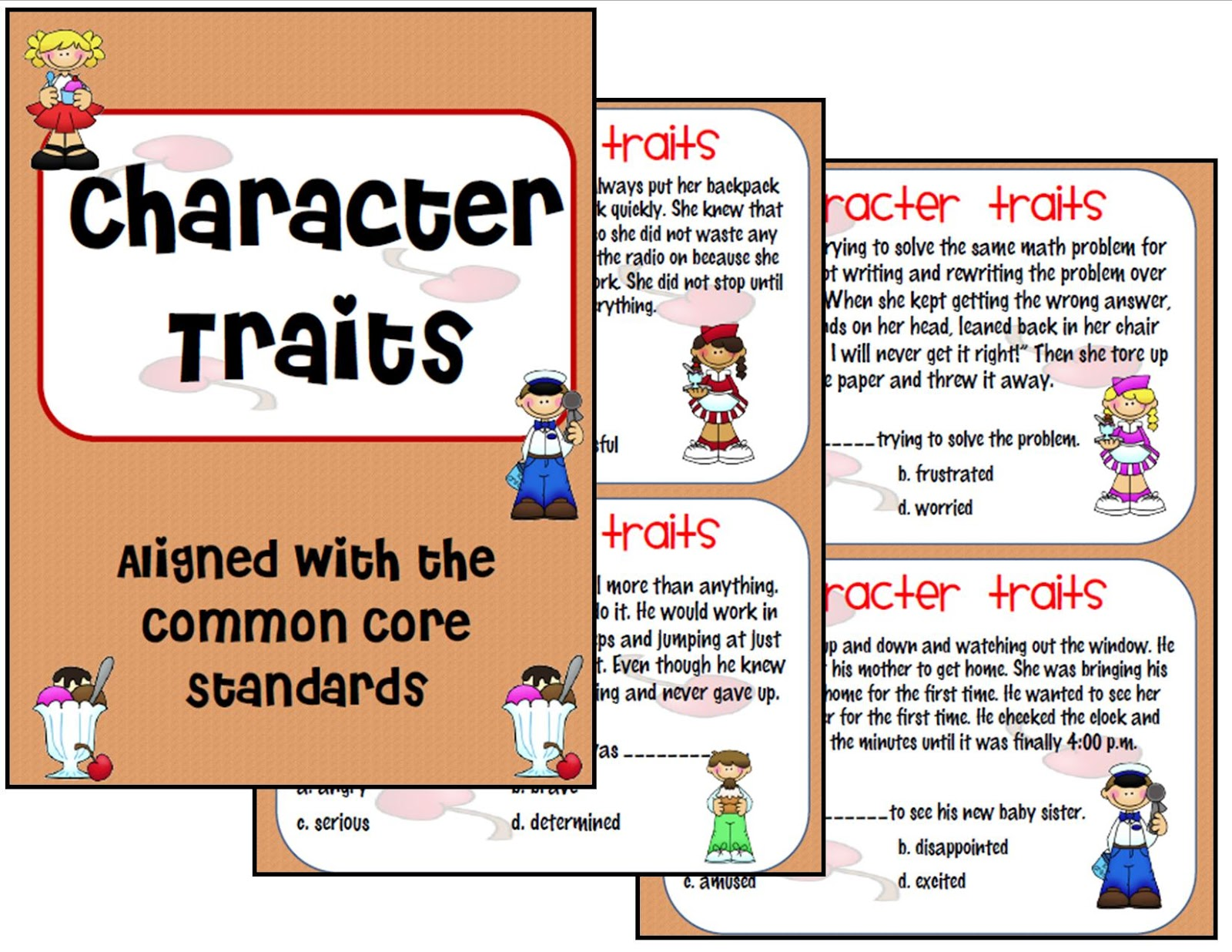 Ms Third Grade Character Traits Activity