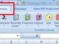 Menampilkan Tab Formulas Saja Pada Ribbon Excel - Custom UI Editor
