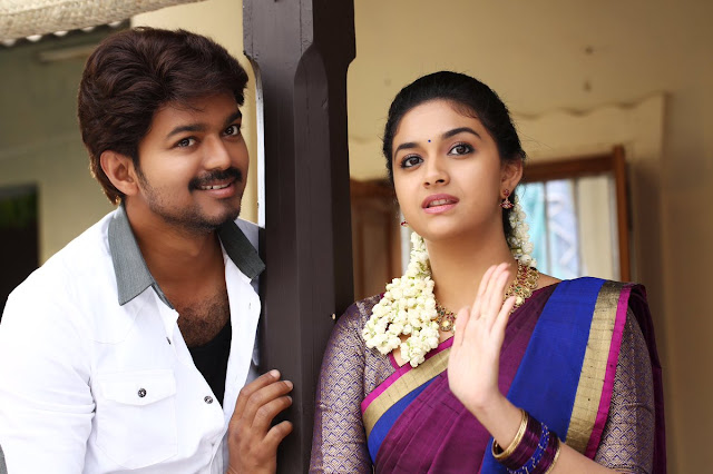 Actor vijay in Bairavaa tamil movie latest photos
