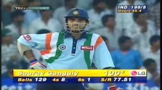 Sourav Ganguly 105 vs New Zealand Highlights