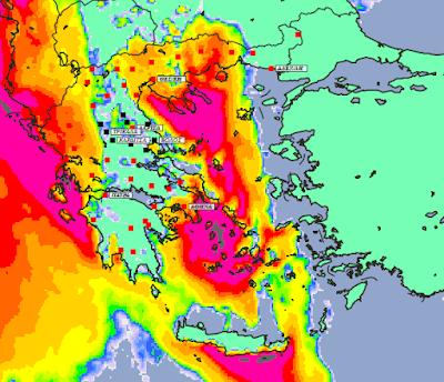 1 - Συννεφιές και βροχές την Δευτέρα και Τετάρτη σε μεγάλο μέρος της χώρας (+XAΡΤΕΣ ΥΕΤΟΥ)