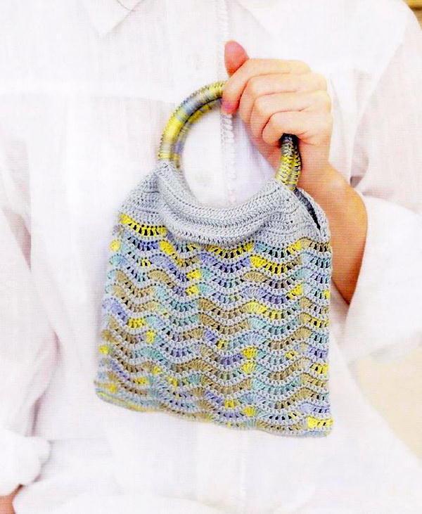 Easy Crochet Bag Using Ripple Crochet Stitch