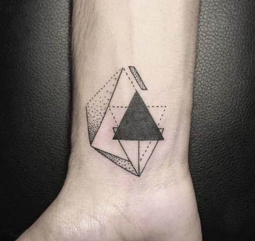 geometrik bilek dövmeleri geometric wrist tattoos 15