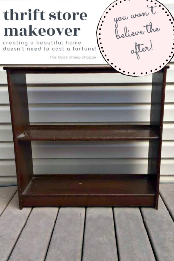 You probably wouldn't want this secondhand bookcase in a nursery, but just wait until you see the after!