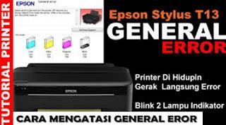 General Error Printer T13