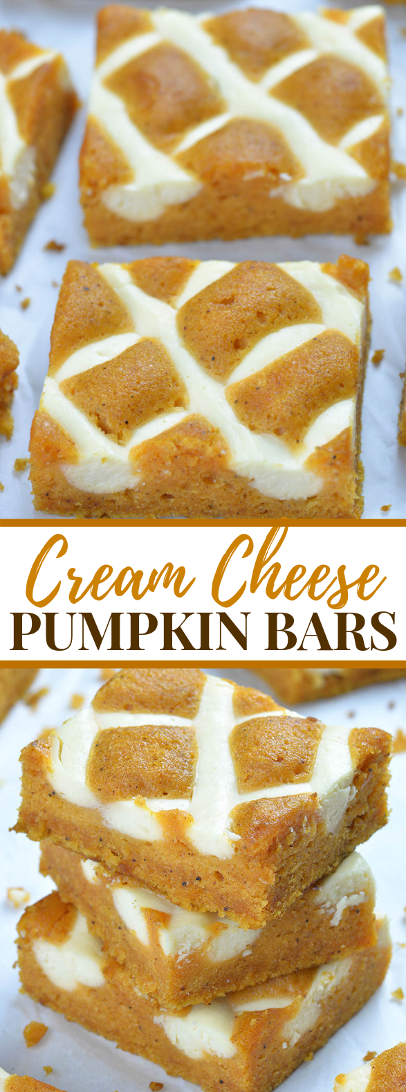 Pumpkin Bars with Cream Cheese #desserts #breakfast