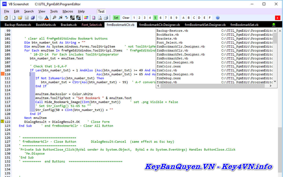 Download và cài đặt ProgramEdit 4.9.1 Full Key, Soạn thảo C / C ++, C #, CSS, HTML, Java, JavaScript, Perl, PHP, Python, Ruby, SQL, VB, VBScript, VHDL.
