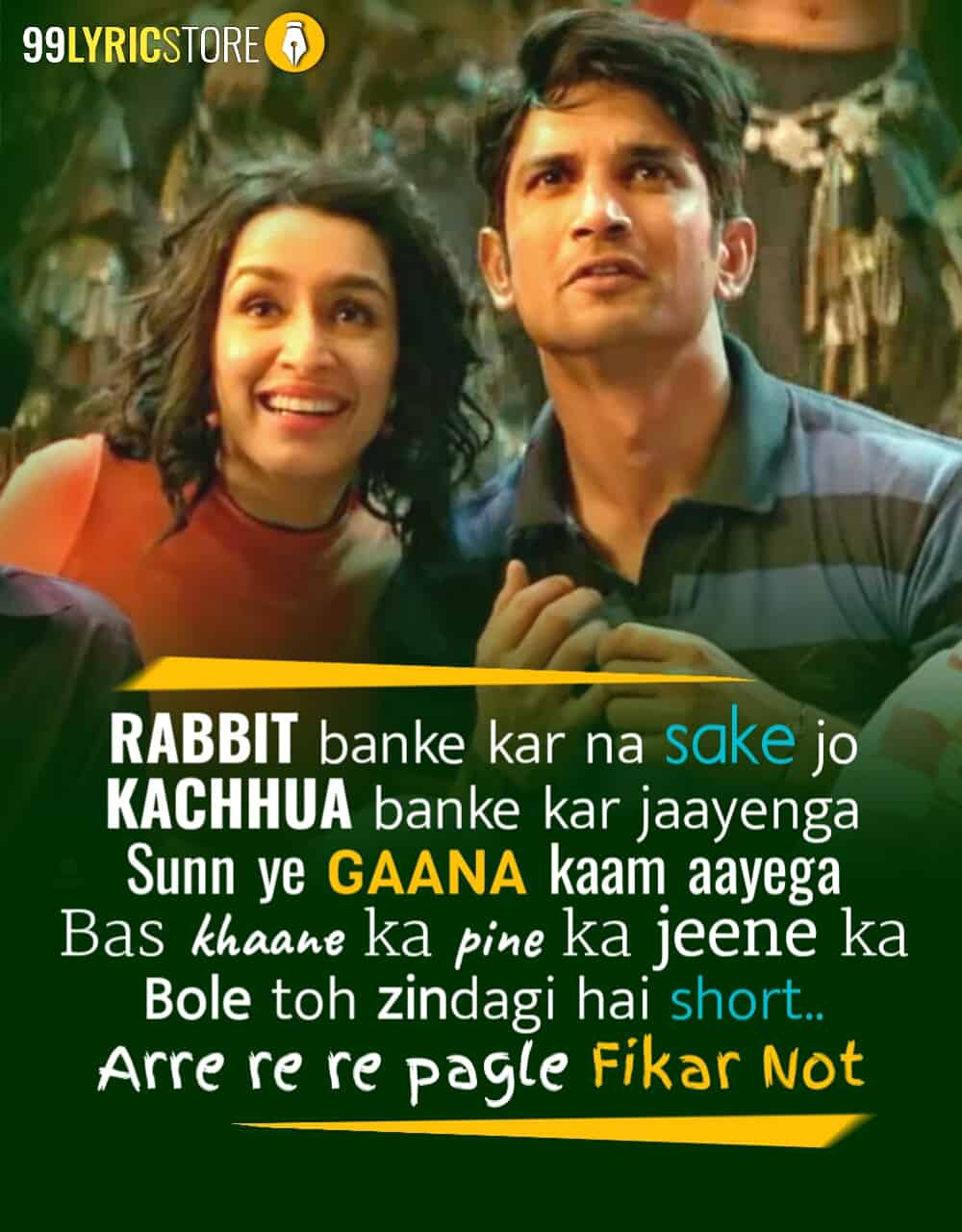 Fikar Not Song From Movie Chhichhore Starring Sushant Singh Rajput and Shraddha Kapoor