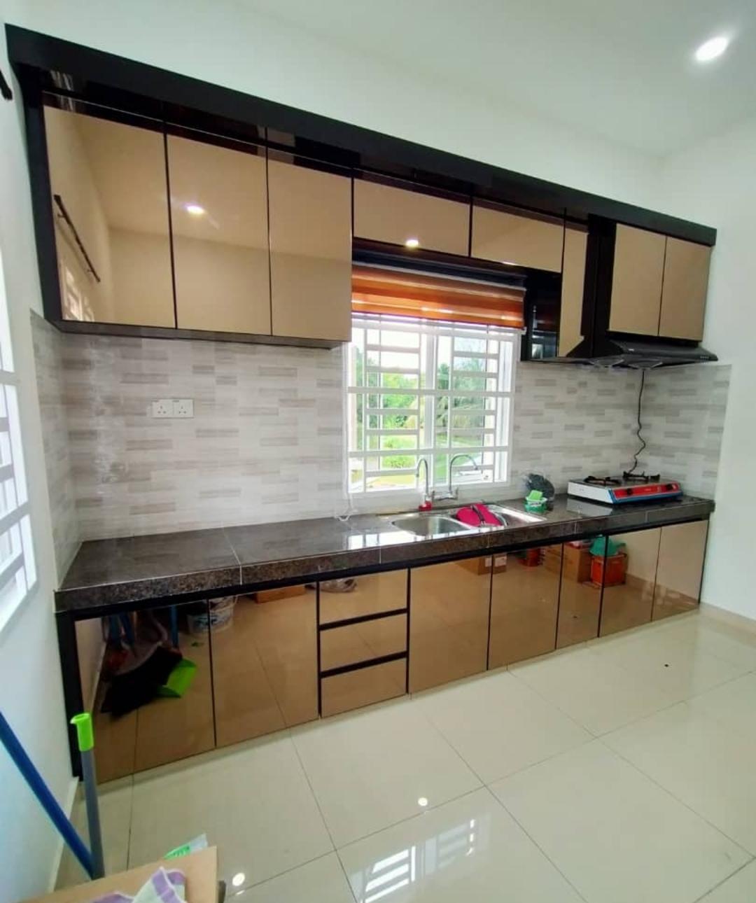 Kabinet Dapur 4g Bronze Mirror Dunia Kabinet Dapur